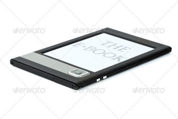 Modern ebook reader - Stock Photo - Images