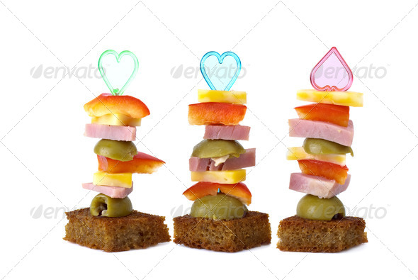 Three canape - Stock Photo - Images