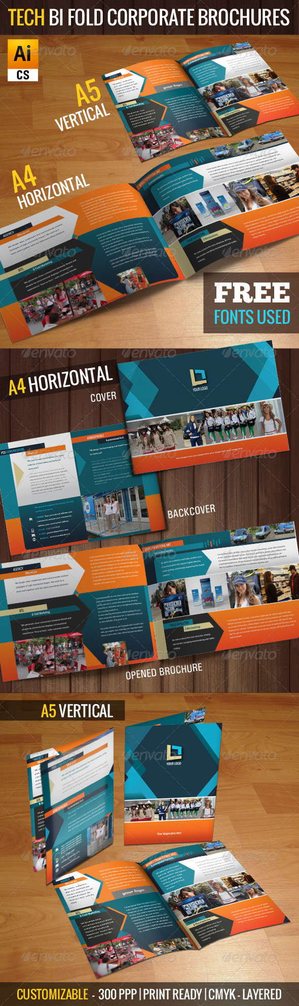 Tech Bi-fold Corporate Brochures - Corporate Brochures