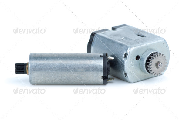 Pair of DC electric motors - Stock Photo - Images