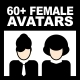 60+ Female Avatars and Icons Vector Pack - GraphicRiver Item for Sale