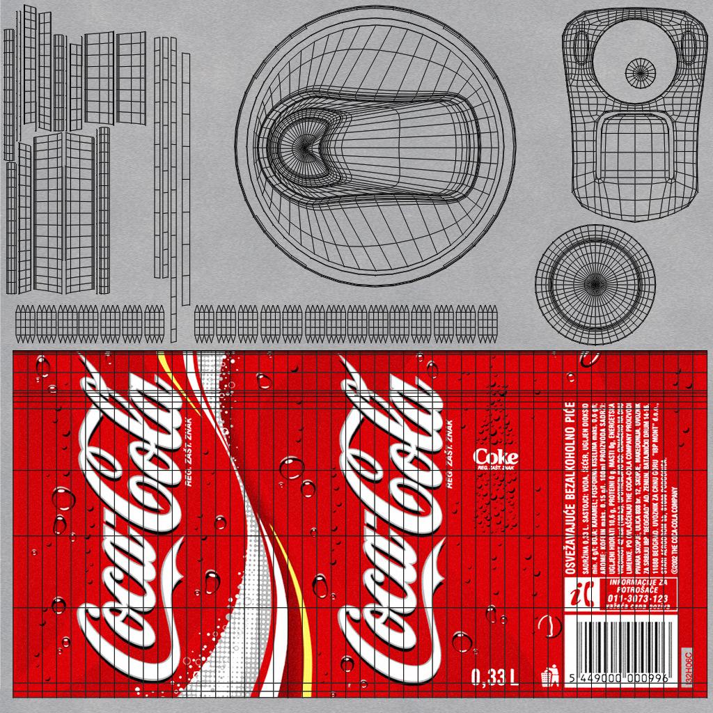 Coca Cola Can By Mladenca 3docean