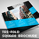 Trustx - Square Tri-fold Brochure - GraphicRiver Item for Sale