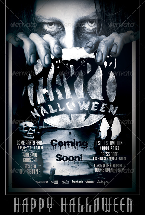 Halloween Flyerposter Template By Mexelina Graphicriver