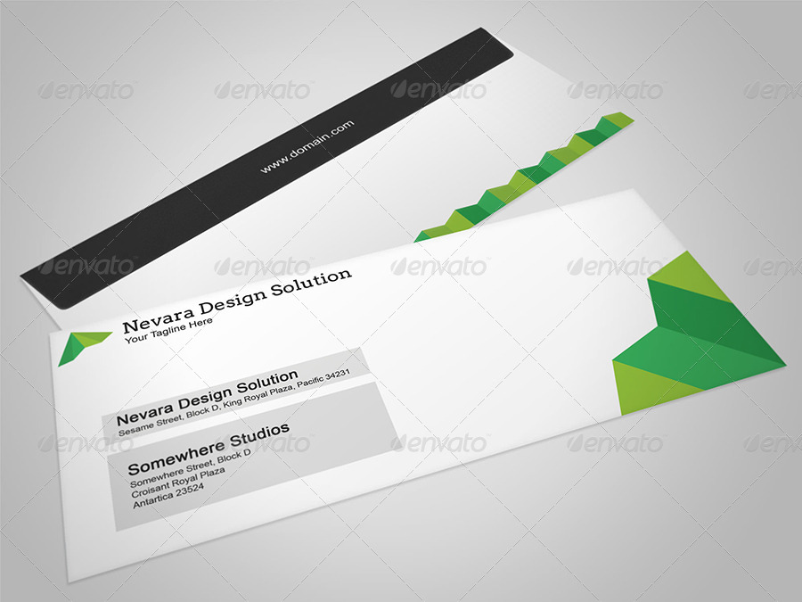 Nevara design studios stationery by arvaone graphicriver for Window envelope design