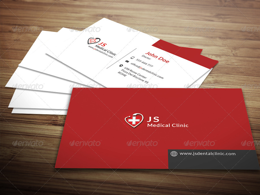 Medical business card by crazyleaf graphicriver for Physician business cards