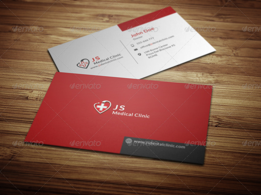med cards template - medical business card by crazyleaf graphicriver