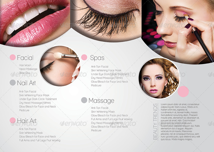 Promotional Salon Trifold Brochure Template By Redshinestudio