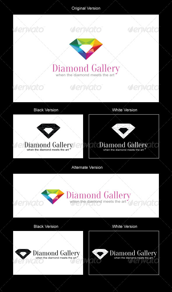 Diamond Gallery Logo Design - Objects Logo Templates