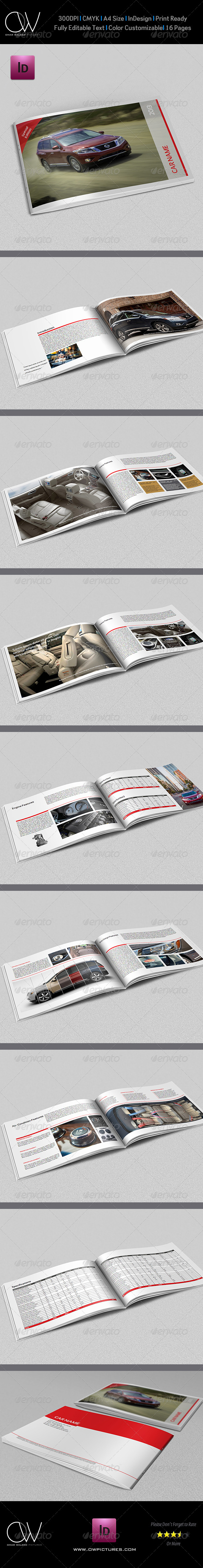 Car Catalog Brochure Template - 16 Pages - Catalogs Brochures