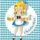Blond Celebrating Oktoberfest - GraphicRiver Item for Sale