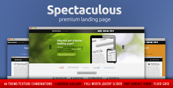 Free Download Spectaculous - Premium Landing Page Nulled Latest Version