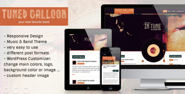 Tuned Balloon - Music WordPress Theme - Music and Bands Entertainment