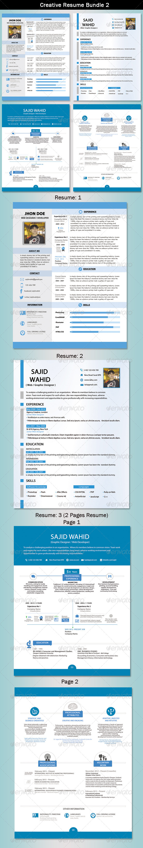 Resume Bundle 2 - Print Templates