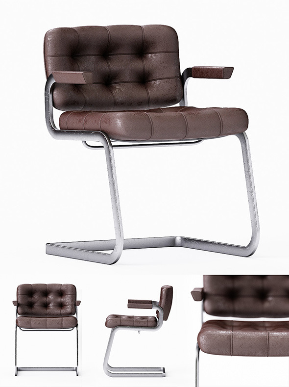 Chair of Desede RH305 3D model  - 3DOcean Item for Sale