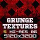 5 Minimal Red Grunge Texture Backgrounds V1 - GraphicRiver Item for Sale