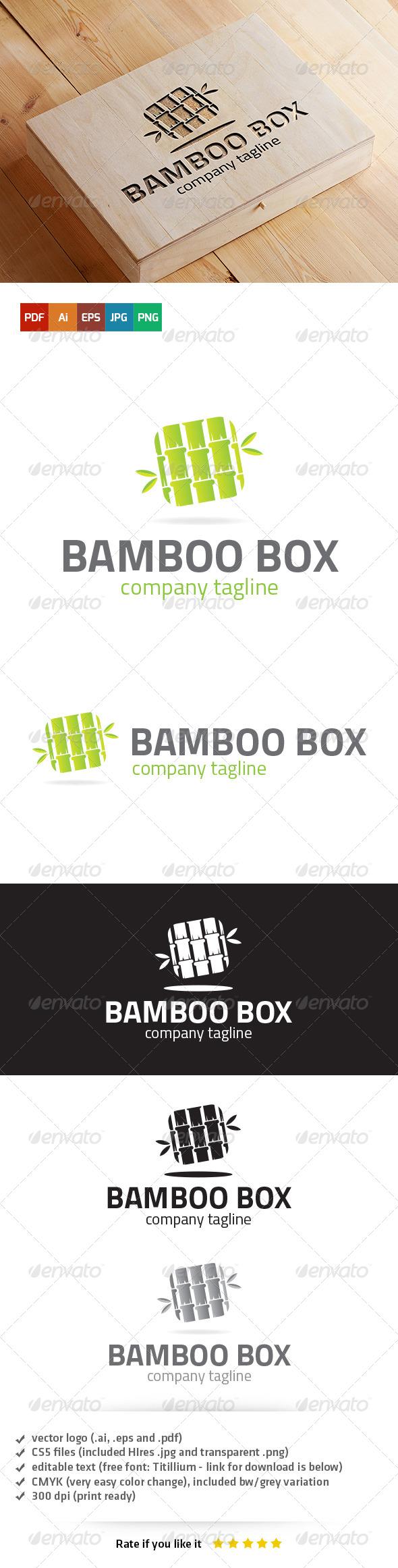 Bamboo Box Logo - Nature Logo Templates