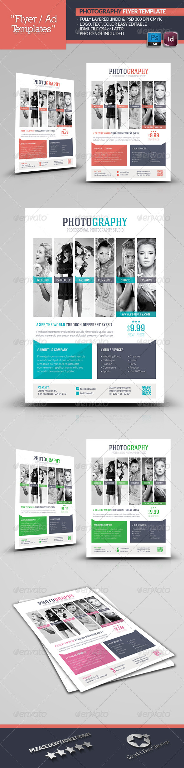 Photography Flyer Template by grafilker | GraphicRiver