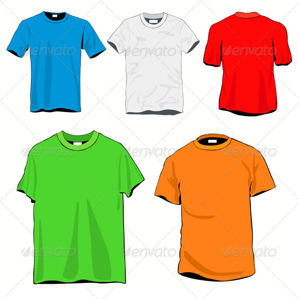 T-shirts Template Set - Man-made Objects Objects