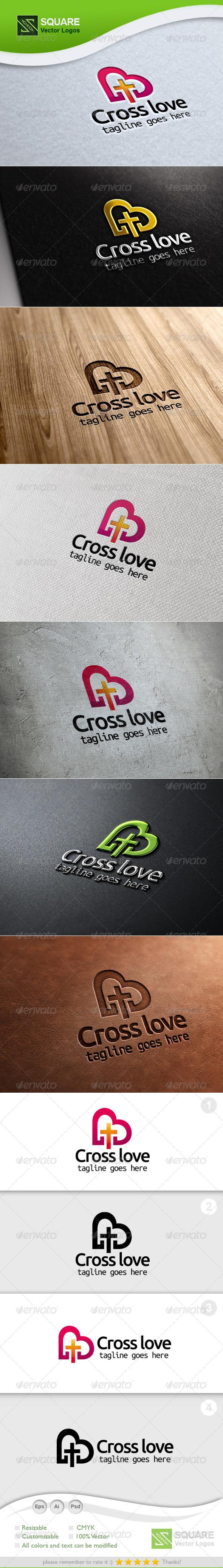 Cross, Love Vector Logo Template - Symbols Logo Templates