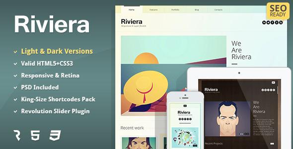 Riviera – Premium Portfolio HTML5 Template