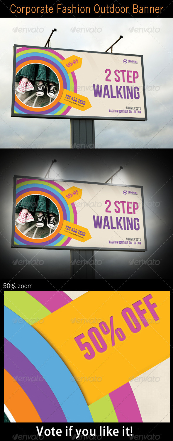 Corporate Fashion Outdoor Banner - Signage Print Templates