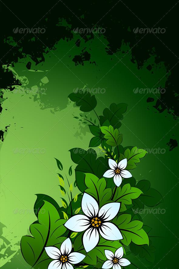 Grunge Flower Background - Backgrounds Decorative