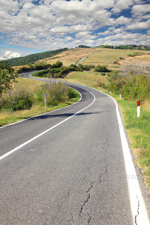 long winding road - Stock Photo - Images