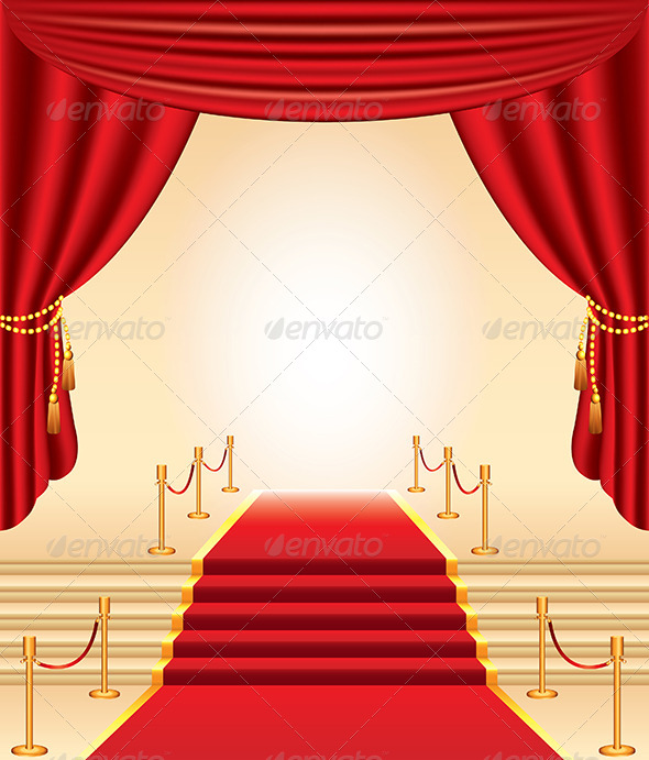 Red Carpet Stairs And Curtains By Andegro4ka GraphicRiver