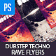 Techno Dubstep Rave Club Flyer