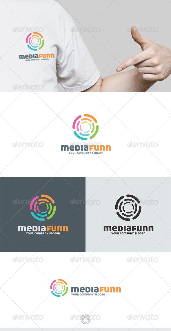 Media Funn Logo - Vector Abstract