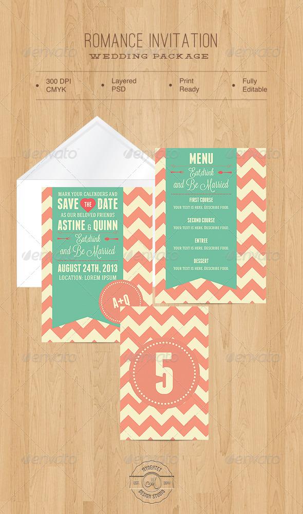 Romance Invitation - Weddings Cards & Invites