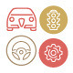 Vector Automoticons - GraphicRiver Item for Sale