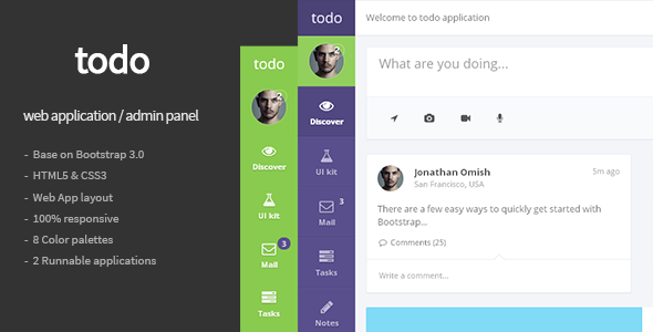 todo – Web Application and Admin Panel Template