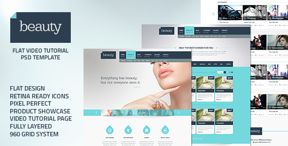 Beauty – Flat Multipurpose Psd Template