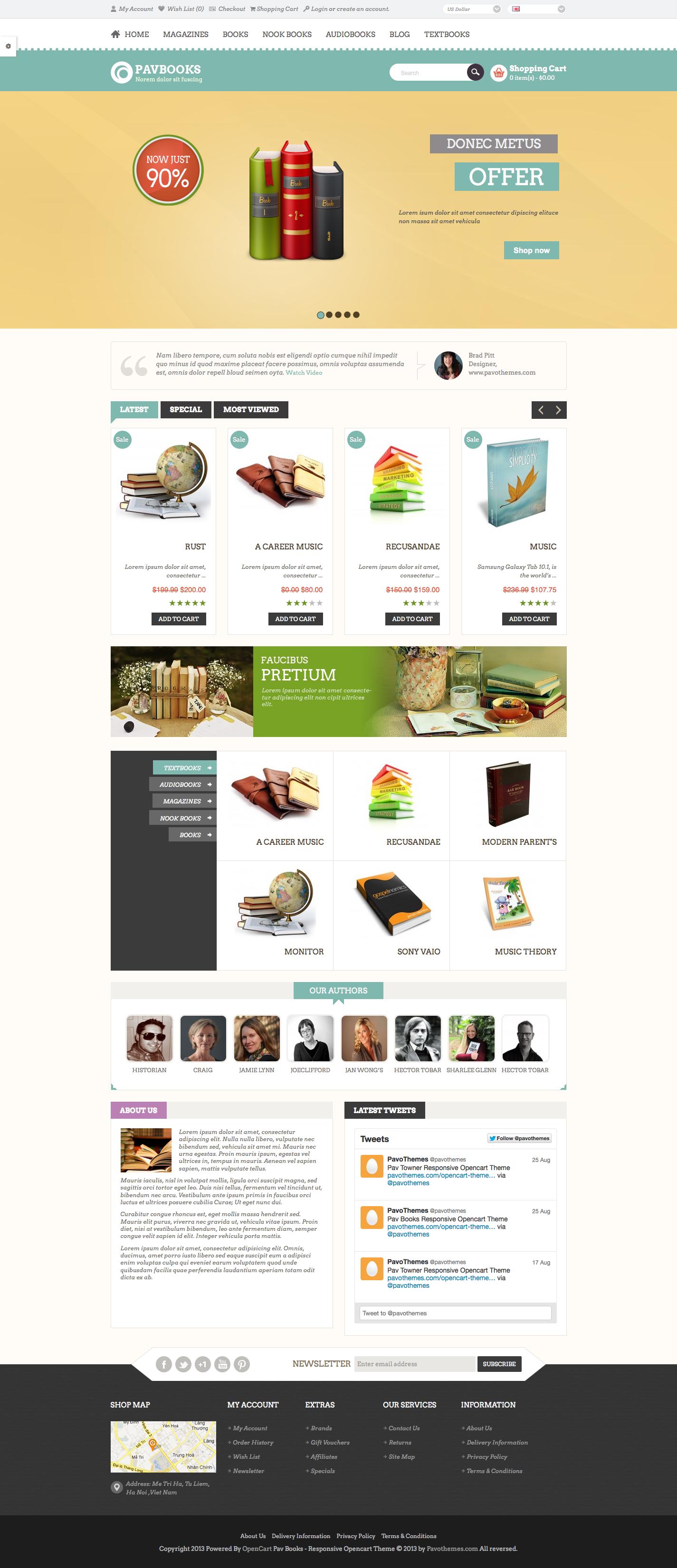 Pav Books Responsive Opencart Theme By Pavothemes Themeforest