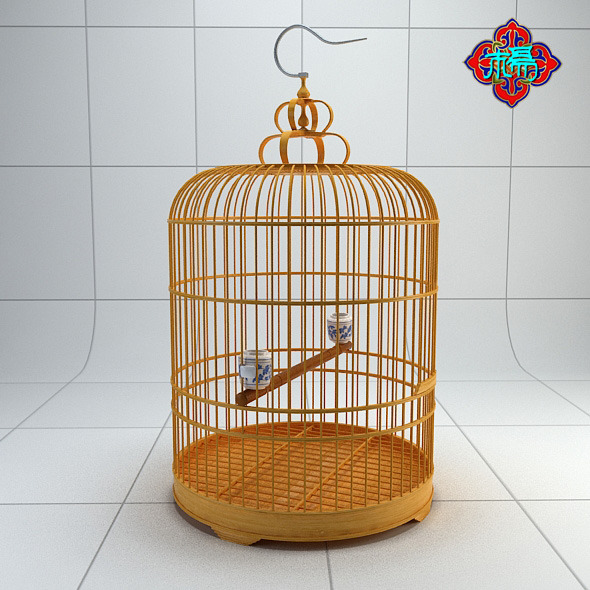 Chinese style bird cage 4 - 3DOcean Item for Sale