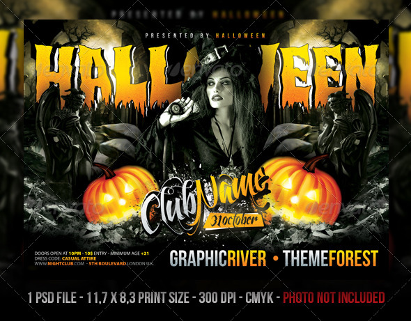 Halloween Party / Concert Flyer / Poster By Fadeink | Graphicriver