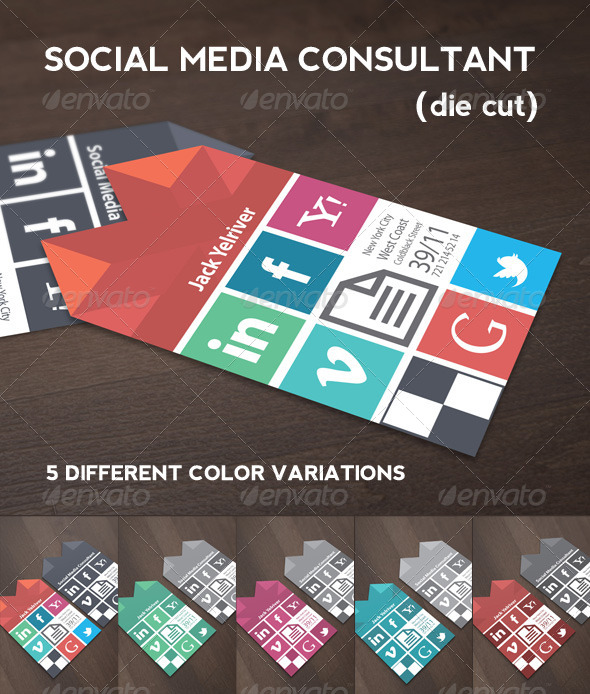 Social media consultant business card by micrographer graphicriver social media consultant business card flashek Image collections