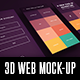 3D Web Mock-Up - GraphicRiver Item for Sale