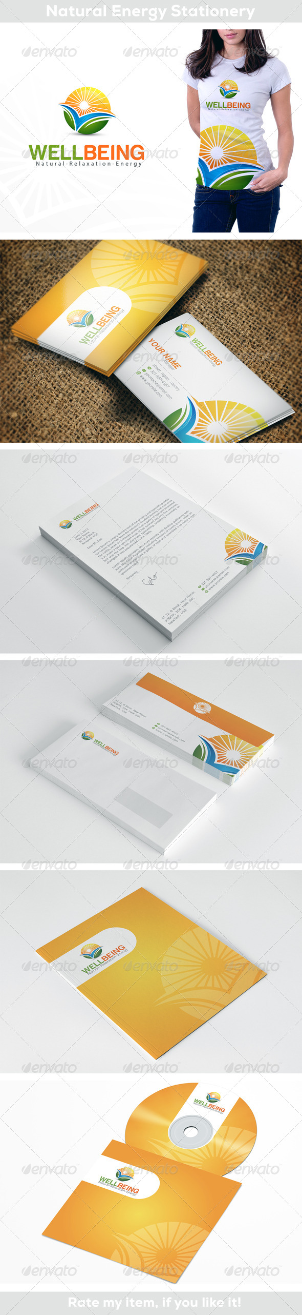 Natural Energy - Stationery Print Templates