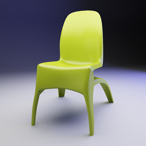 Plastic Mario Chair - 3DOcean Item for Sale