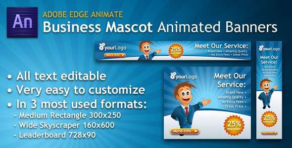 Download Business Mascot Animated Banner from codecanyon