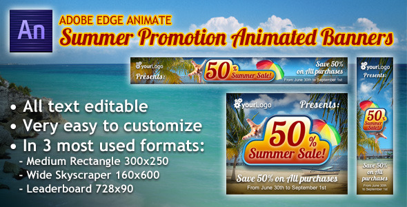 Summer Promotion Animated Banner - CodeCanyon Item for Sale