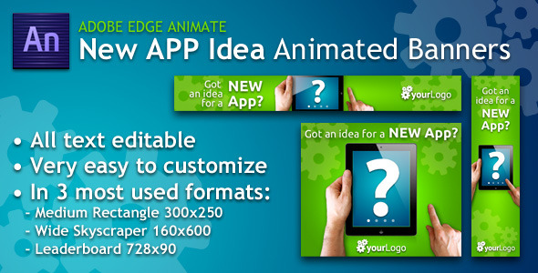 New App Idea Animated Banner - CodeCanyon Item for Sale