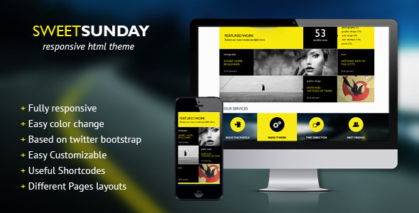 SweetSunday – Fully Responsive Creative HTML Template