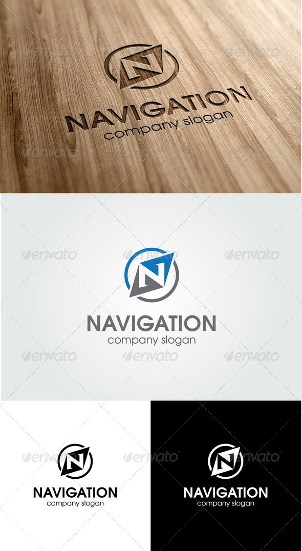 navigation letter n logo by glaxa graphicriver navigation letter n logo