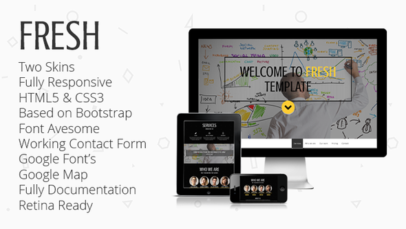 FRESH -Responsive Parallax One-Page Template