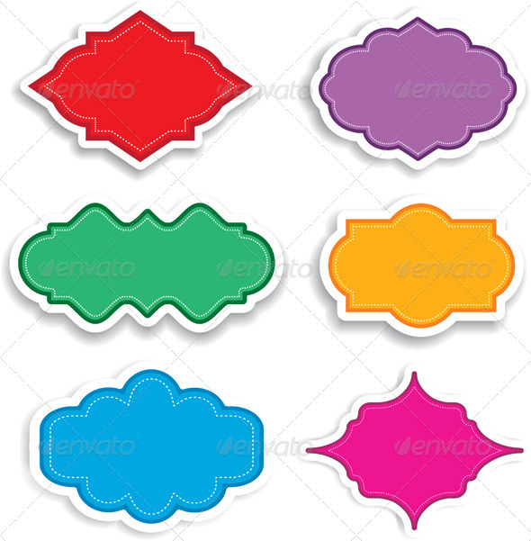 Bright labels - Borders Decorative
