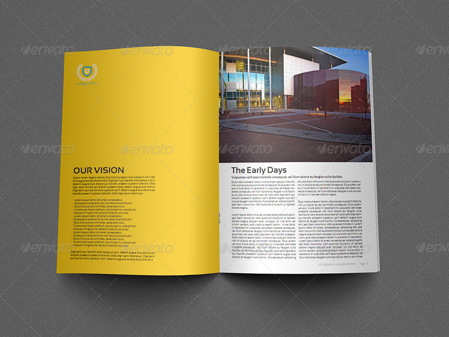 Training Company Brochure Template Pages By OWPictures - Company brochure template